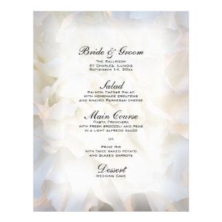 White Carnation Floral Wedding Menu 21.5 Cm X 28 Cm Flyer