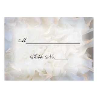 White Carnation Floral Wedding Place Card Pack Of Chubby Business Cards