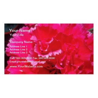 White Carnation flowers Business Card