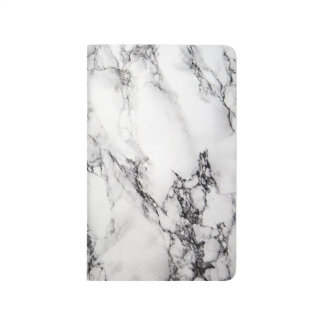 White Carrara Marble Notebook Journal