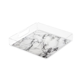 White Carrara Marble Tray