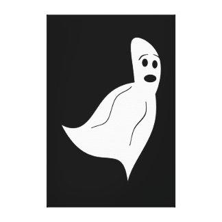 White Cartoon Ghost Canvas Print