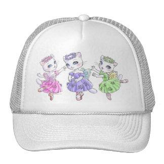 White cat ballerina cap trucker hat