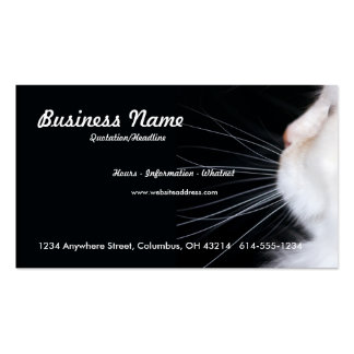 White Cat Business Card