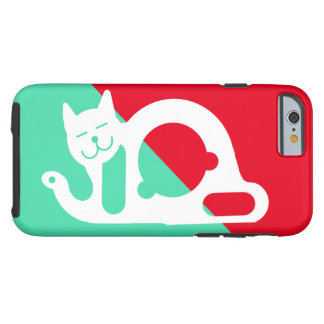 WHITE CAT by Slipperywindow Tough iPhone 6 Case