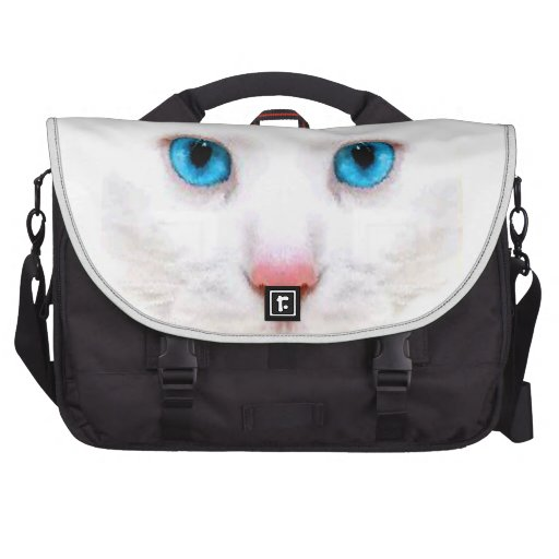WHITE CAT,CATS, LAPTOP BAG