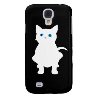 White cat galaxy s4 case