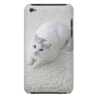 White cat looking up iPod touch cases