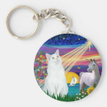 White Cat - Magical Night Key Chain