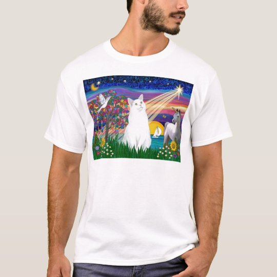 White Cat - Magical Night T-Shirt