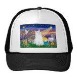 White Cat - Magical Night Trucker Hats