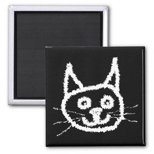 White Cat. Fridge Magnets