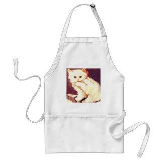 White Cat Miss Priss Apron