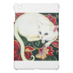 White Cat on a Cushion