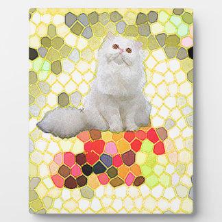 White Cat Plaque