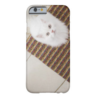 White cat sitting on mat barely there iPhone 6 case
