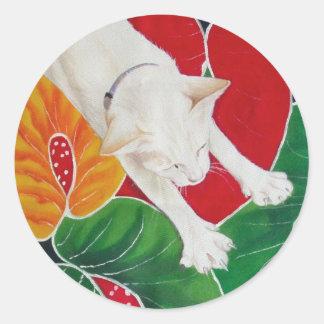 White Cat sticker
