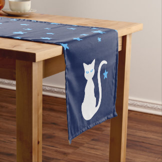 White Cat Table Runner