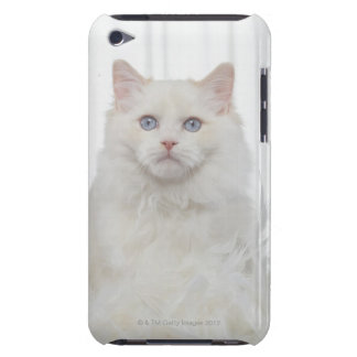 White Cat with Feathers Barely There iPod Case