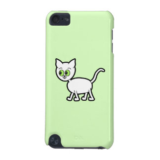 White Cat with Green Eyes. iPod Touch (5th Generation) Cover