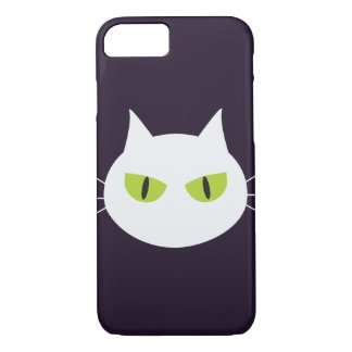 White cats with green eyes Halloween iPhone 7 Case