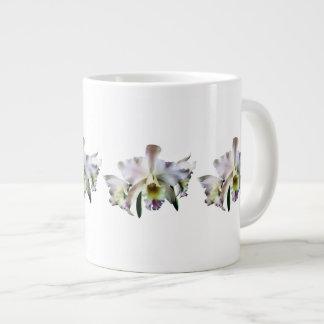 White Cattleya Orchids Jumbo Mug