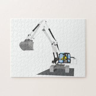 white chain excavator jigsaw puzzle