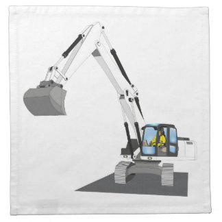 white chain excavator napkin