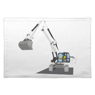 white chain excavator placemat