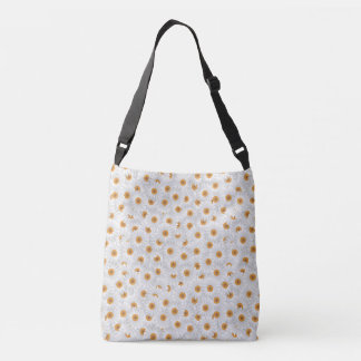 White Chamomile Blossoms Crossbody Bag