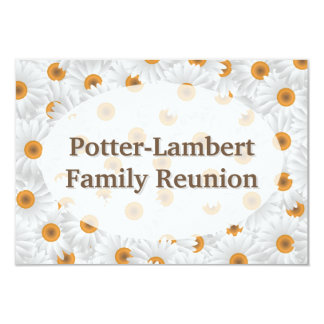 White Chamomile Flower Personalized Card
