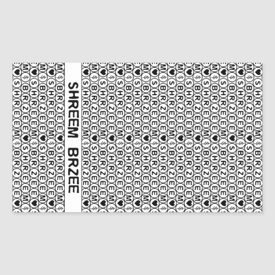 White Chant Shreem Brzee money mantra Rectangular Sticker
