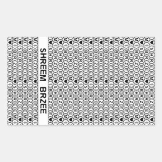 White Chant Shreem Brzee money mantra Stickers