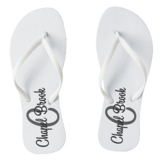 white chapel brook flip flops