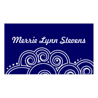 White Charming Swirls Calling Card Pack Of Standard Business Cards