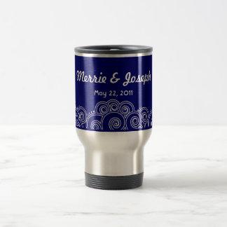 White Charming Swirls Travel Mug