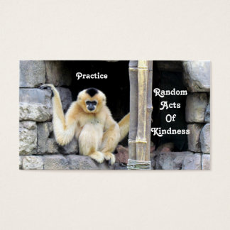 White Cheeked Gibbon Random Acts of Kindness Cards