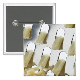 white cheese, cheddar, stainless cheese grater 15 cm square badge