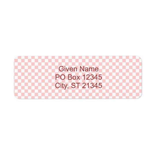 White Chequerboard Avery Label Return Address Label