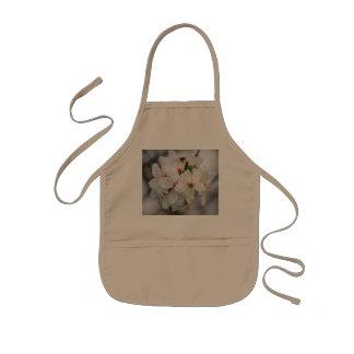 White Cherry Blooms Design Kids Apron