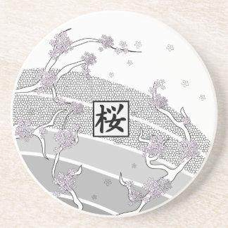 White Cherry Blossom Tree Coaster