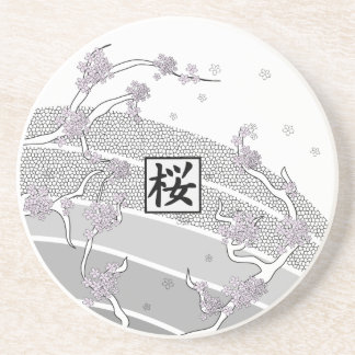 White Cherry Blossom Tree Coasters