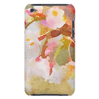 White Cherry Blossoms Digital Watercolor Painting Barely There iPod Cover