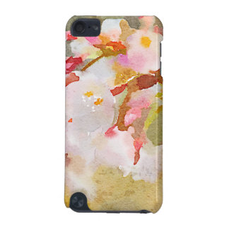 White Cherry Blossoms Digital Watercolor Painting iPod Touch 5G Cover