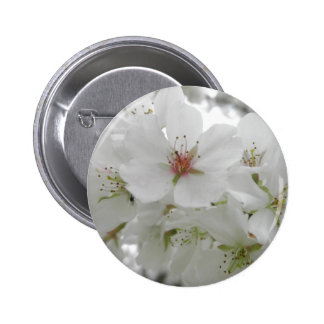 White Cherry Blossoms Photo 6 Cm Round Badge