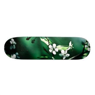 White Cherry Blossoms Skateboard Deck