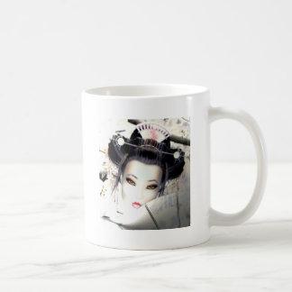 White Cherry Geisha Basic White Mug