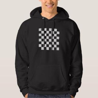 White Chess Board Hooded Sweatshirt