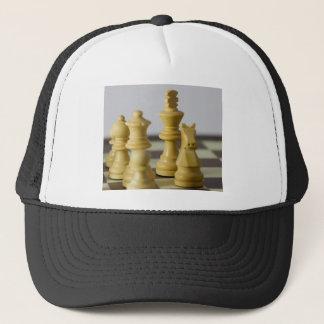 White chess pieces trucker hat