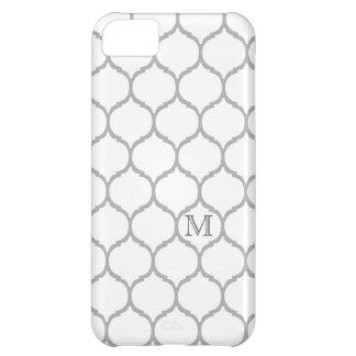 White Chic Monogram Moroccan iPhone 5C Case